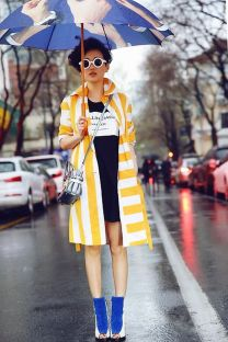Awesome rainy day outfit style 44