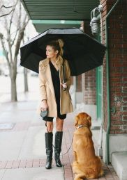 Awesome rainy day outfit style 9