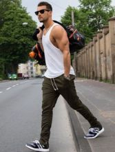 Cool mens gym and workout outfits style 27