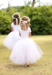 Cute bridesmaid dresses for little girls ideas 24