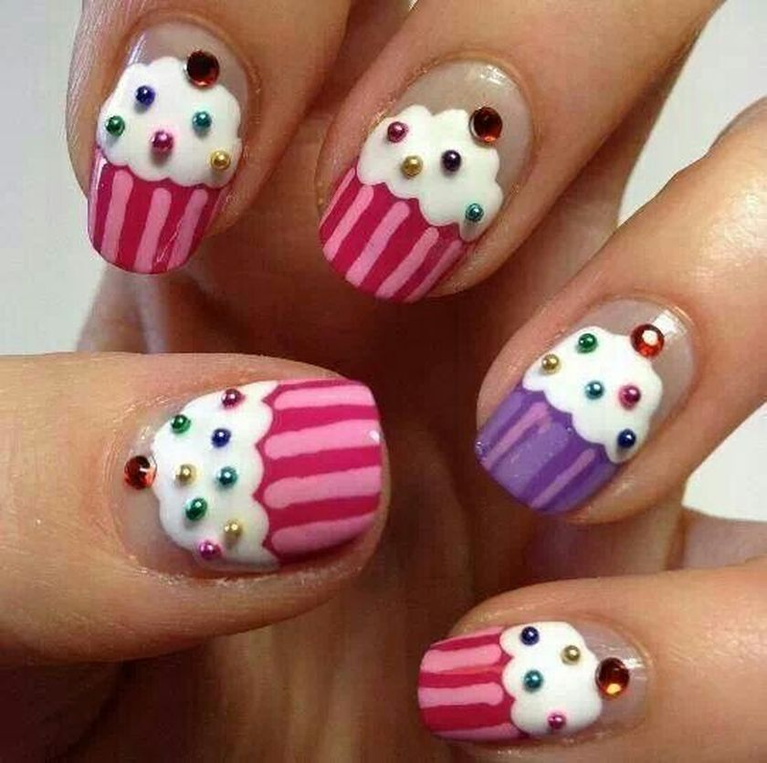 Girl Nail Art Nailarts Ideas