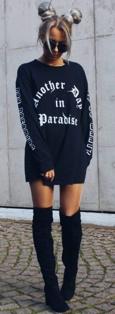 Cute oversized t shirt outfit styles 18