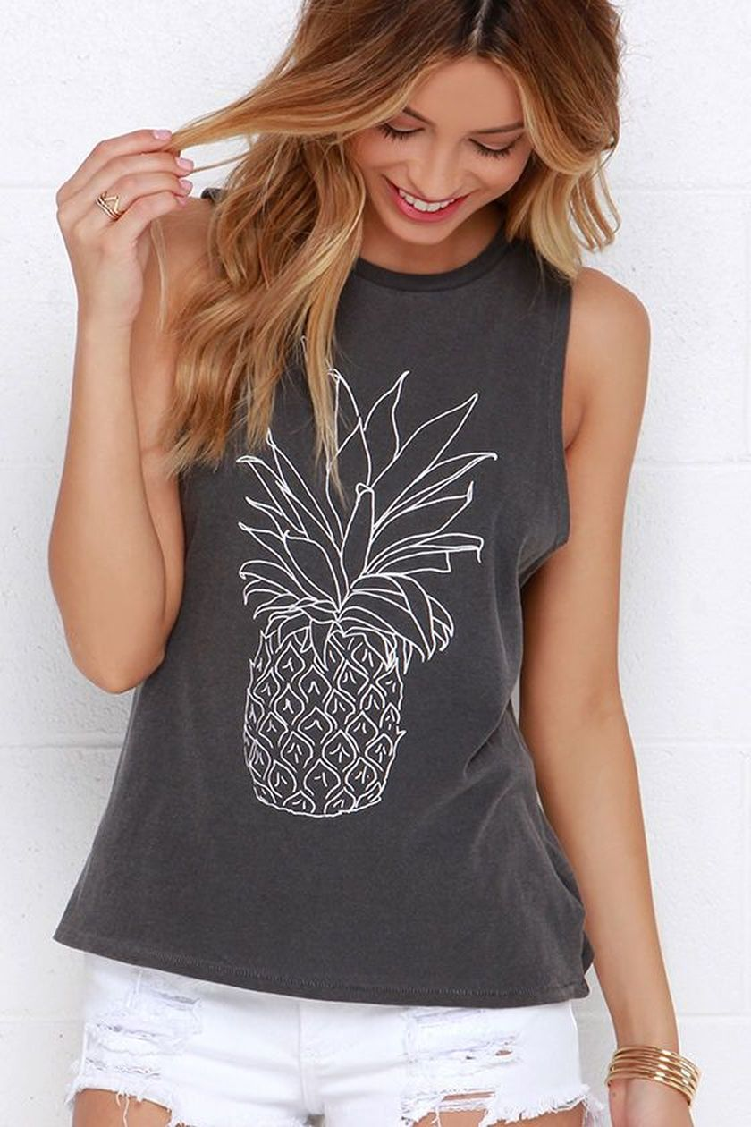 Cute pineapple tank top must you have 29