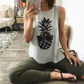 Cute pineapple tank top must you have 43