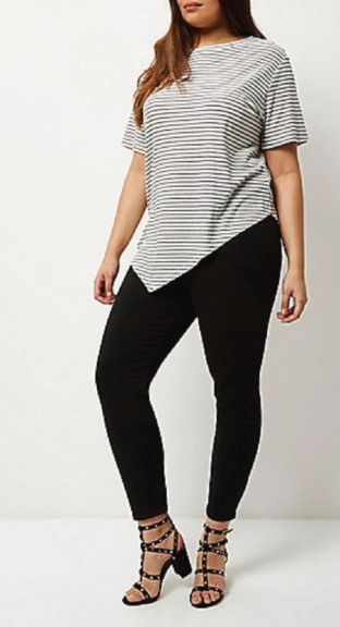 Fabulous plus size striped shirt outfits 10