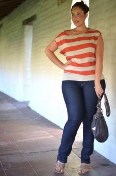 Fabulous plus size striped shirt outfits 18