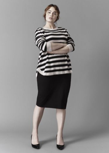 Fabulous plus size striped shirt outfits 22