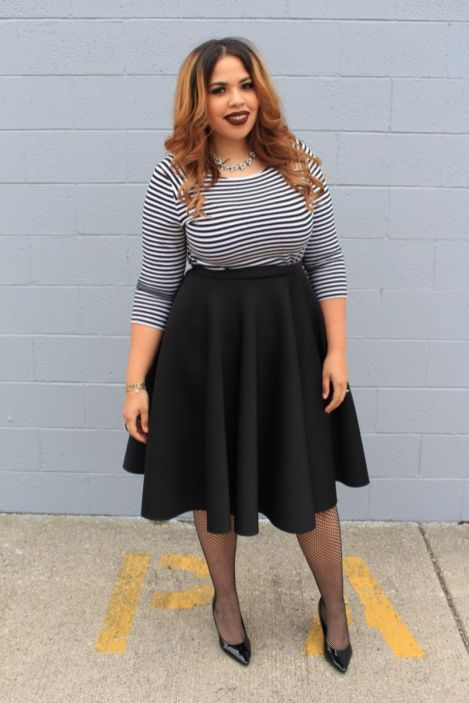 Fabulous plus size striped shirt outfits 37