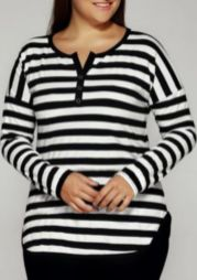 Fabulous plus size striped shirt outfits 39