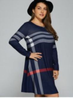 Fabulous plus size striped shirt outfits 4