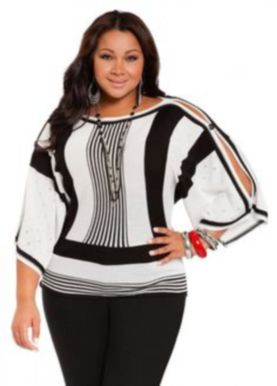 Fabulous plus size striped shirt outfits 43
