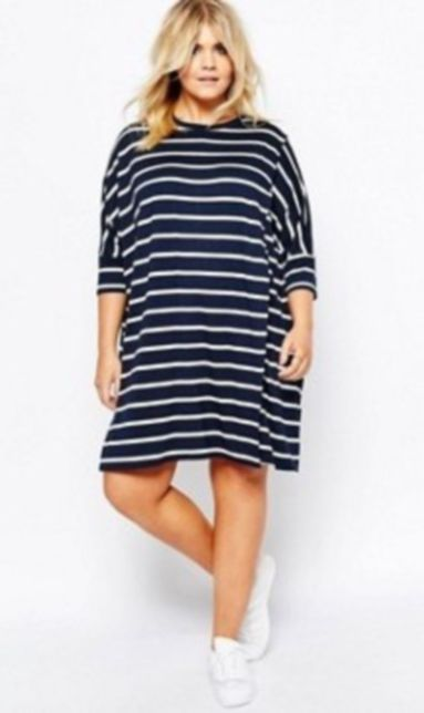 Fabulous plus size striped shirt outfits 49