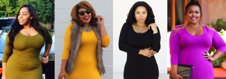 Flattering plus size midi dress with sleeve featured