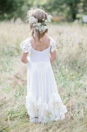 Gorgeous flower girl lace dresses ideas 15