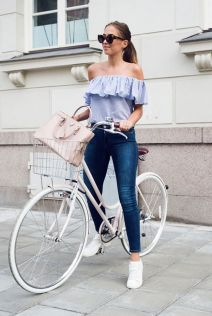 How to wear white sneaker for spring outfits 1