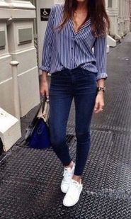 How to wear white sneaker for spring outfits 108
