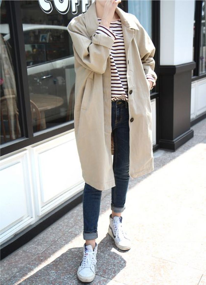 How to wear white sneaker for spring outfits 113