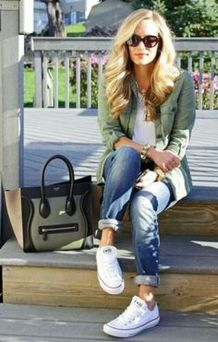 How to wear white sneaker for spring outfits 114