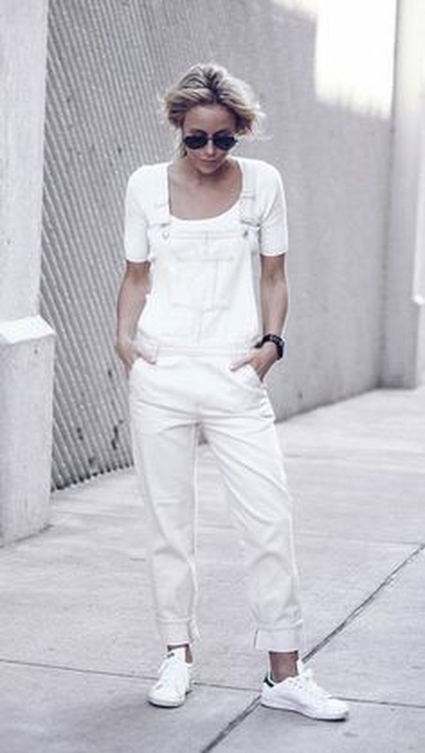 How to wear white sneaker for spring outfits 128