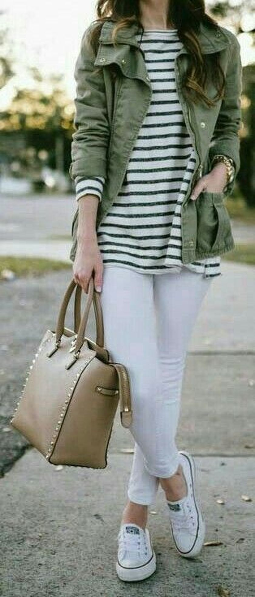 How to wear white sneaker for spring outfits 133