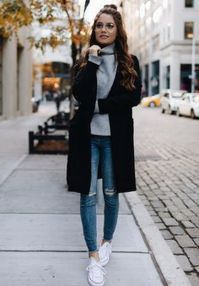 How to wear white sneaker for spring outfits 134