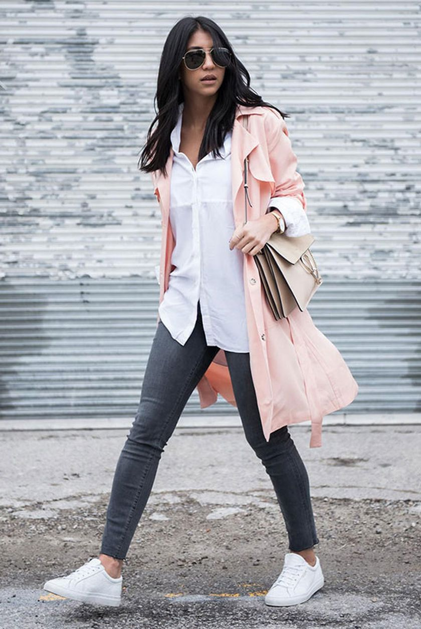 How to wear white sneaker for spring outfits 136