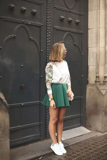 How to wear white sneaker for spring outfits 38