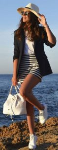 How to wear white sneaker for spring outfits 49