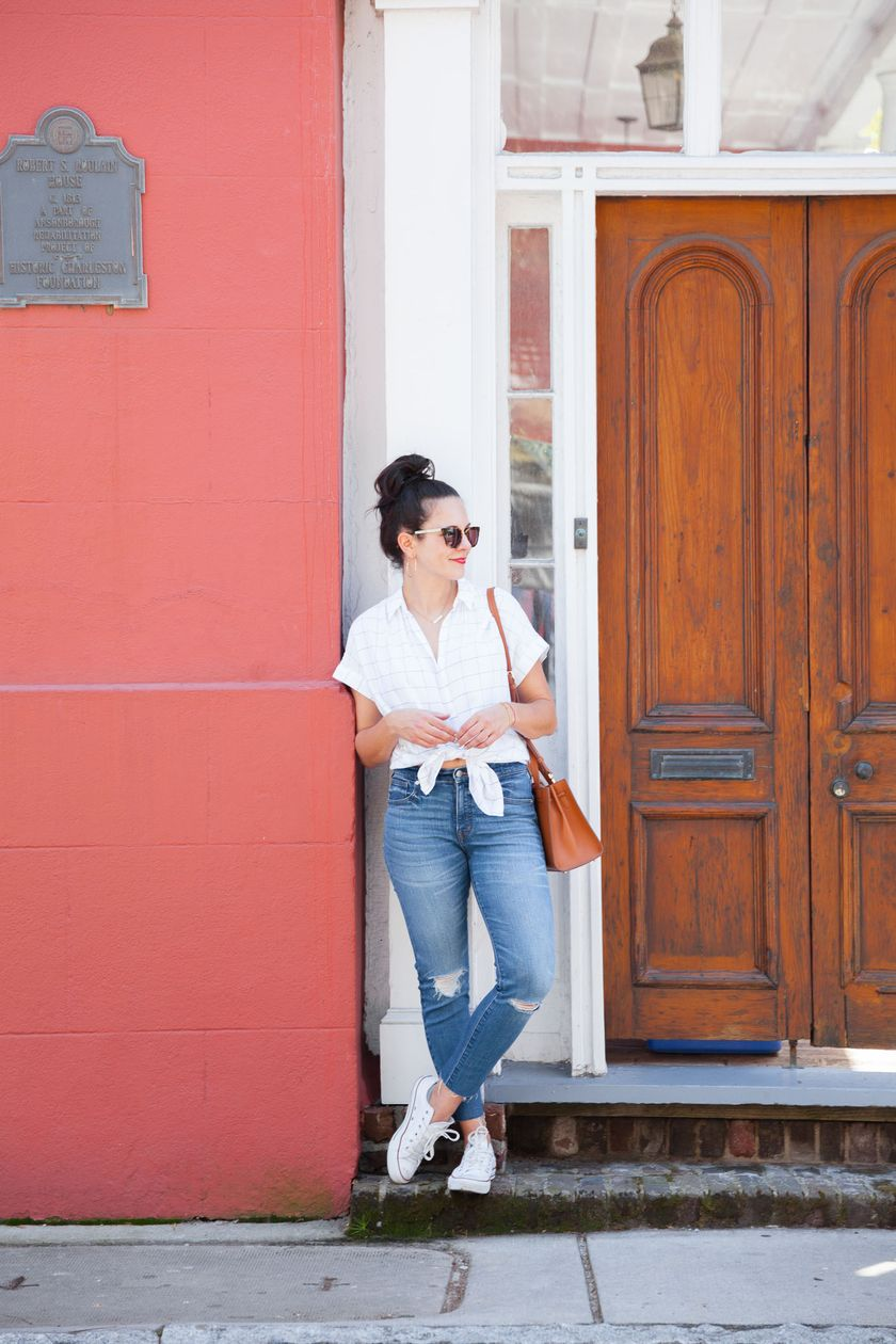 How to wear white sneaker for spring outfits 71
