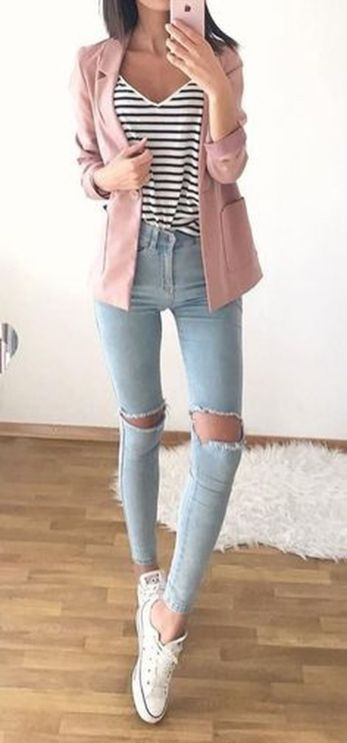 How to wear white sneaker for spring outfits 77
