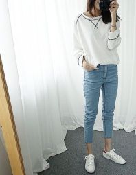 How to wear white sneaker for spring outfits 86