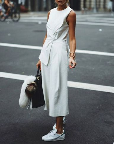 How to wear white sneaker for spring outfits 91