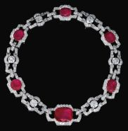 Magnificent burmese ruby and diamond necklace 15