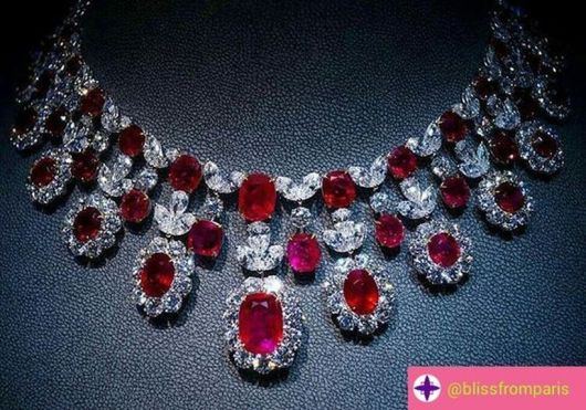 Magnificent burmese ruby and diamond necklace 17