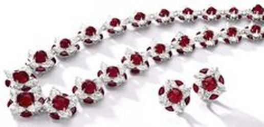 Magnificent burmese ruby and diamond necklace 22