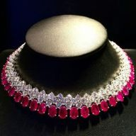 Magnificent burmese ruby and diamond necklace 26