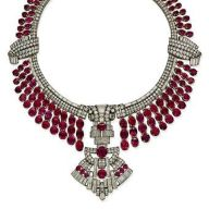 Magnificent burmese ruby and diamond necklace 27