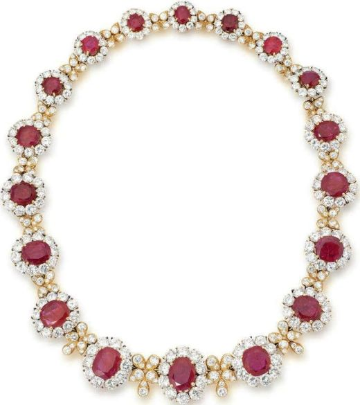 Magnificent burmese ruby and diamond necklace 29