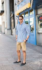 Mens summer casual short outfits worth to copy 12