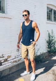 Mens summer casual short outfits worth to copy 13