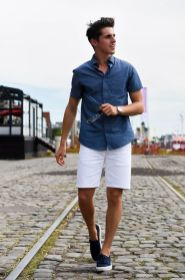 Mens summer casual short outfits worth to copy 16