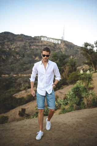 Mens summer casual short outfits worth to copy 27