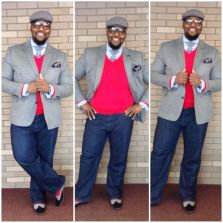 Plus size big and tall mens fashion outfit style ideas 2