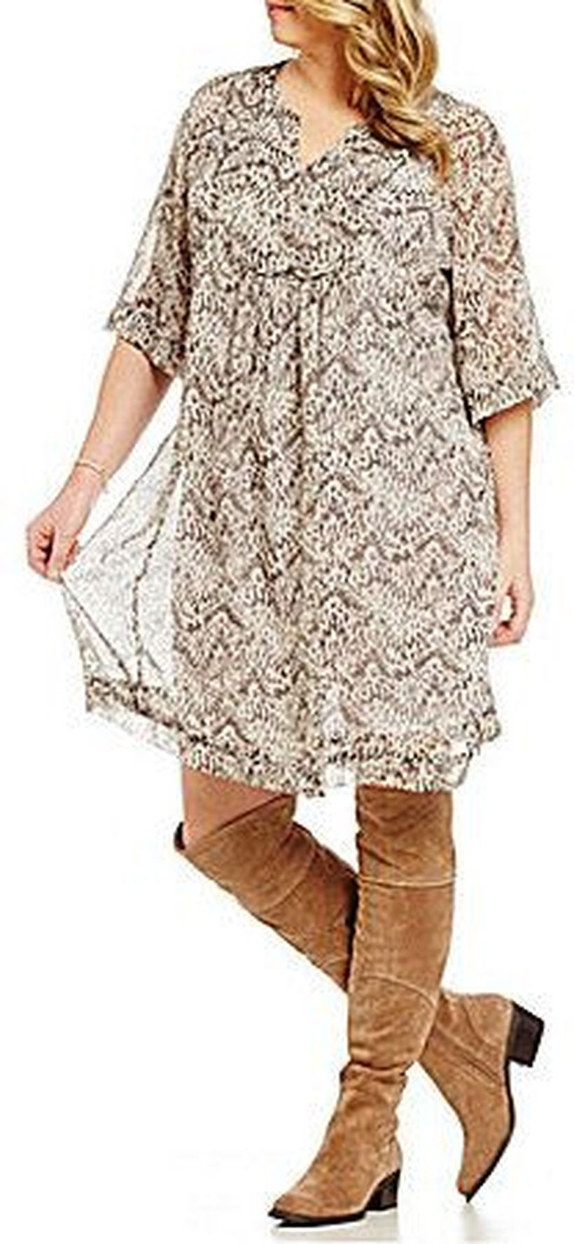 Plus size boho outfit style 13