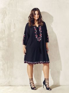 Plus size boho outfit style 15