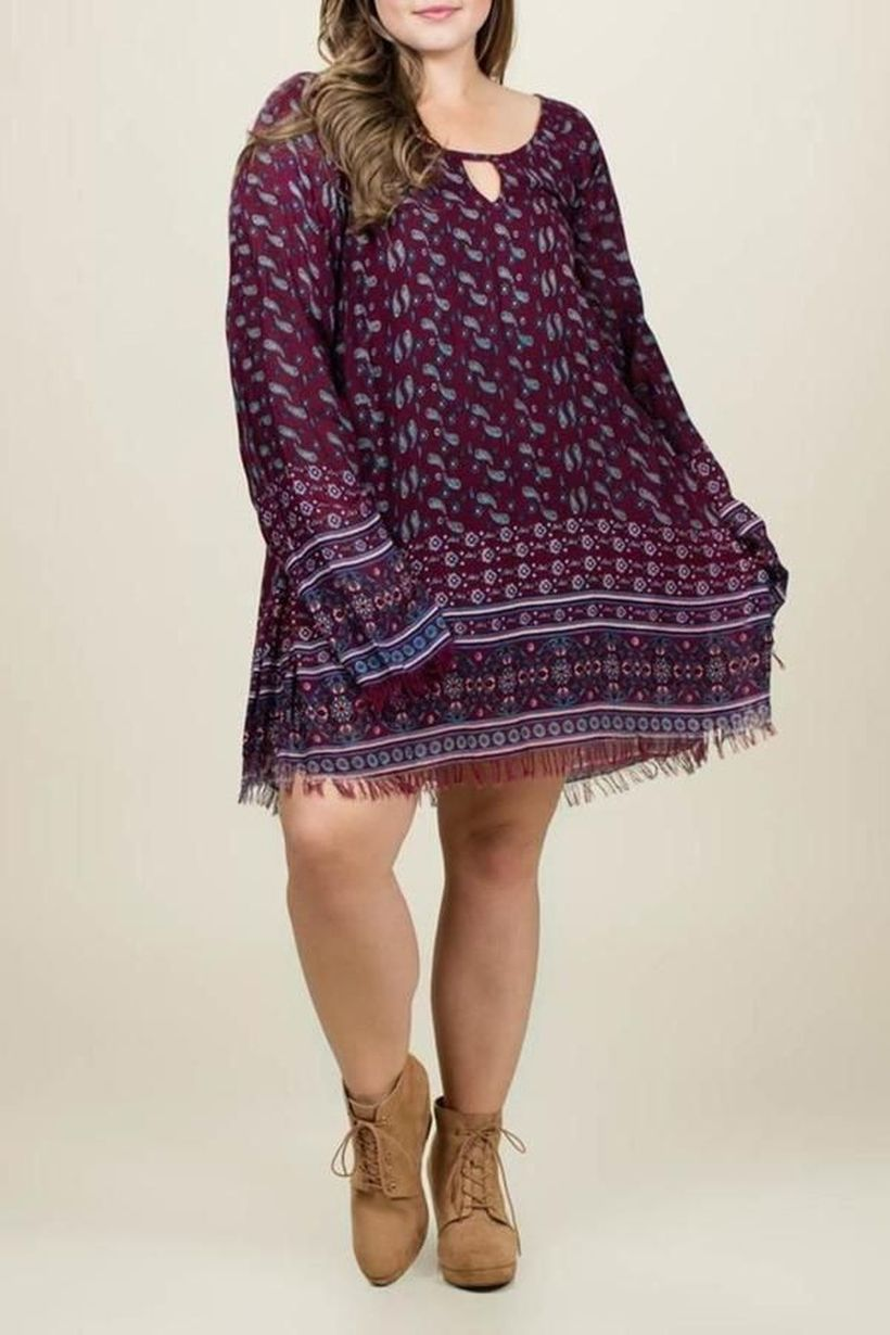 Plus size boho outfit style 27