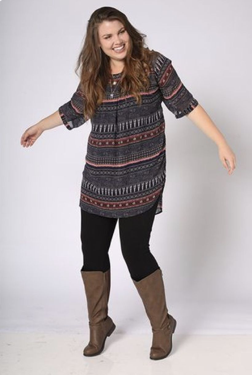 Plus size boho outfit style 3