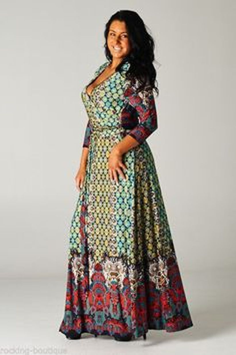 Plus size boho outfit style 36