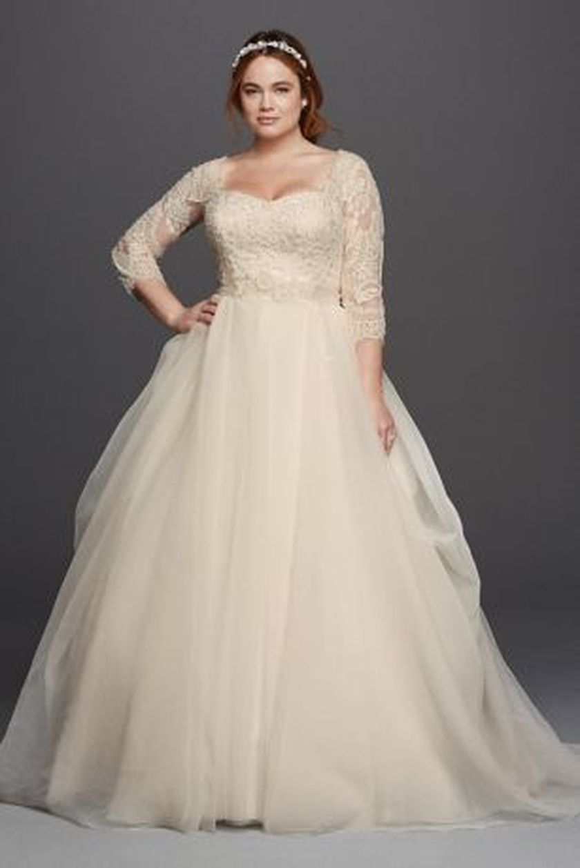 Plus size wedding dresses with sleeves 28