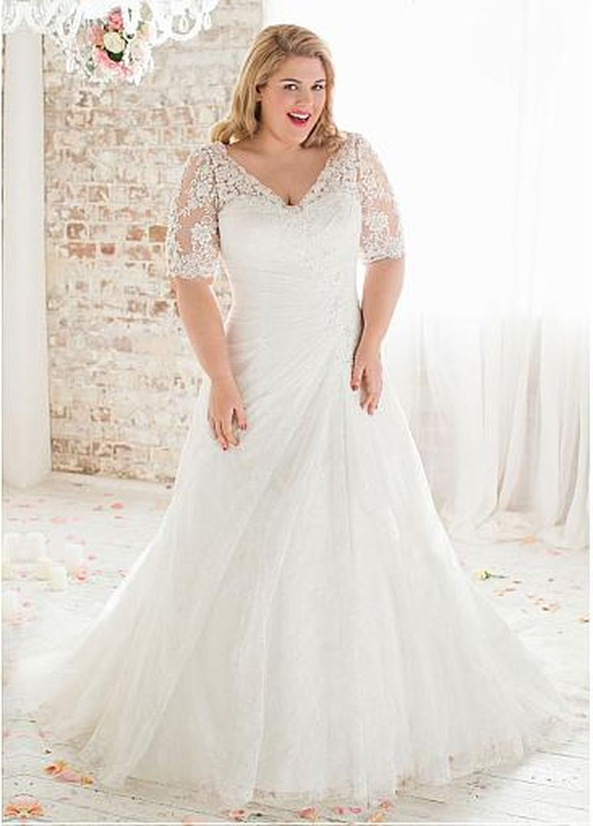 Plus size wedding dresses with sleeves 25